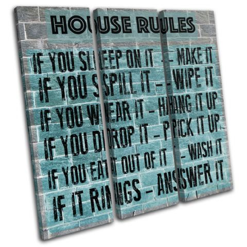 Family House Rules Typography - 13-2367(00B)-TR11-LO